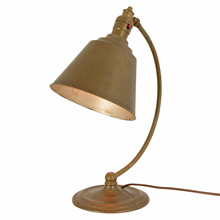 Colonial Revival Desk Lamp w/ Conical Shade c1935