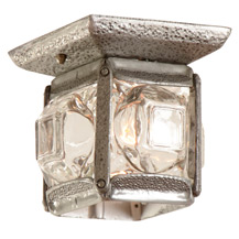 Unusual Faux Hammered Porch Light C1955