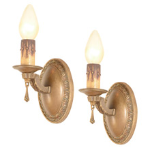 Pair of Elegantly Restrained Colonial Revival Sconces, c1924