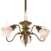 Ornate 6-Light Sheffield Chandelier c1910