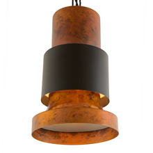 Small Black and Copper-Toned Lightolier Commercial Pendant c1960's