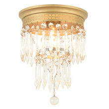 Classic petite Flush Mount W/Crystal Tiers c1925