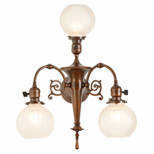 Impressive Victorian 3-Light Wall Sconce c1910