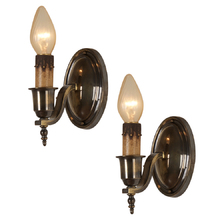 Pair of Simple Colonial Revival Candle Sconces 1925