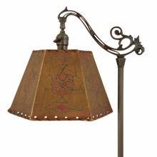 Wonderful Romance Revival Floor Lamp w/ Parchment Shade c1925