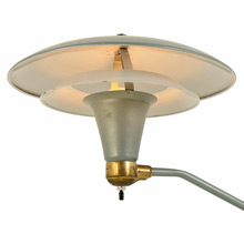 Seafoam Green Modern Swiveling Desk Lamp c1935