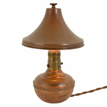 Copper Romance Revival Boudoir Lamp c1920s