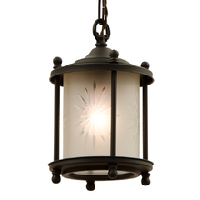 Colonial Revival Entry Pendant w/ Wheel Cut Shade c1925