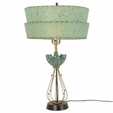 Teal Dream Modern Sculptural Lamp c1960s