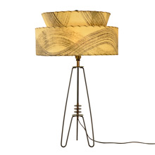Mid-Century Bent Wire Table Lamp w/ Resin Paper Shade c1960