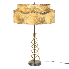 Mid-Century Twisted Wire Desk Lamp w/ Resin Paper Shade C1960