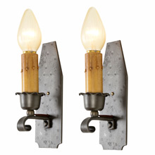 Pair of Revival Style Wrought Wall Sconces c1930s