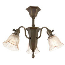 Transitional 3-Light Semi-Flush Fixture c1915