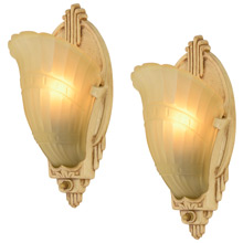 Pair of Art Deco Slipper Sconces by Markel c1936