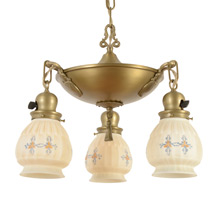 Quintessential Classical Revival Brass Pan Light c1924