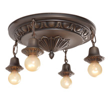 Lovely Egg & Dart 4-Light Fixture C1925