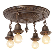 Classical Revival 4-Light Semi-Flush Ceiling Pan C1915