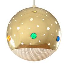 Progress Meridian Ball Pendant w/Jewels c1959