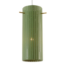Mid-Century Perforated Pendant in Green c1960