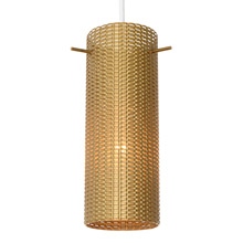 Mid-Century Perforated Pendant in Gold c1960