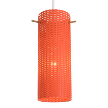 Mid-Century Perforated Pendant in Poppy c1960