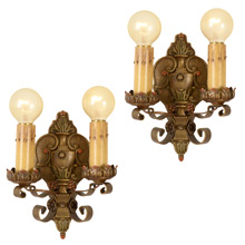 Pair of Drawing Room Double Candle Sconce c1925