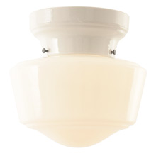 P&S Alabax Flush Mount w/ Schoolhouse Shade 1936