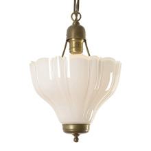 Uplight Pendant W/ Cased Sheffield Shade c1920