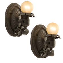 Pair of Petite Revival Style Wall Sconces c1928