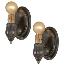 Pair of Colonial Revival Pewter Sconces c1925