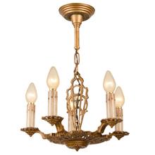 Deco/Revival 5-Candle Chandelier c1928