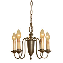 Colonial Revival 5-Candle Chandelier c1930