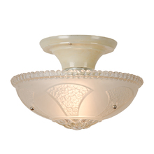 Frosted and Pebbled Bead Chain Fixture c1940
