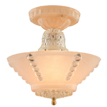 Pale Pink All Glass Center Post Light c1940