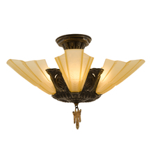 Compact Art Deco Slipper Flush Fixture c1928