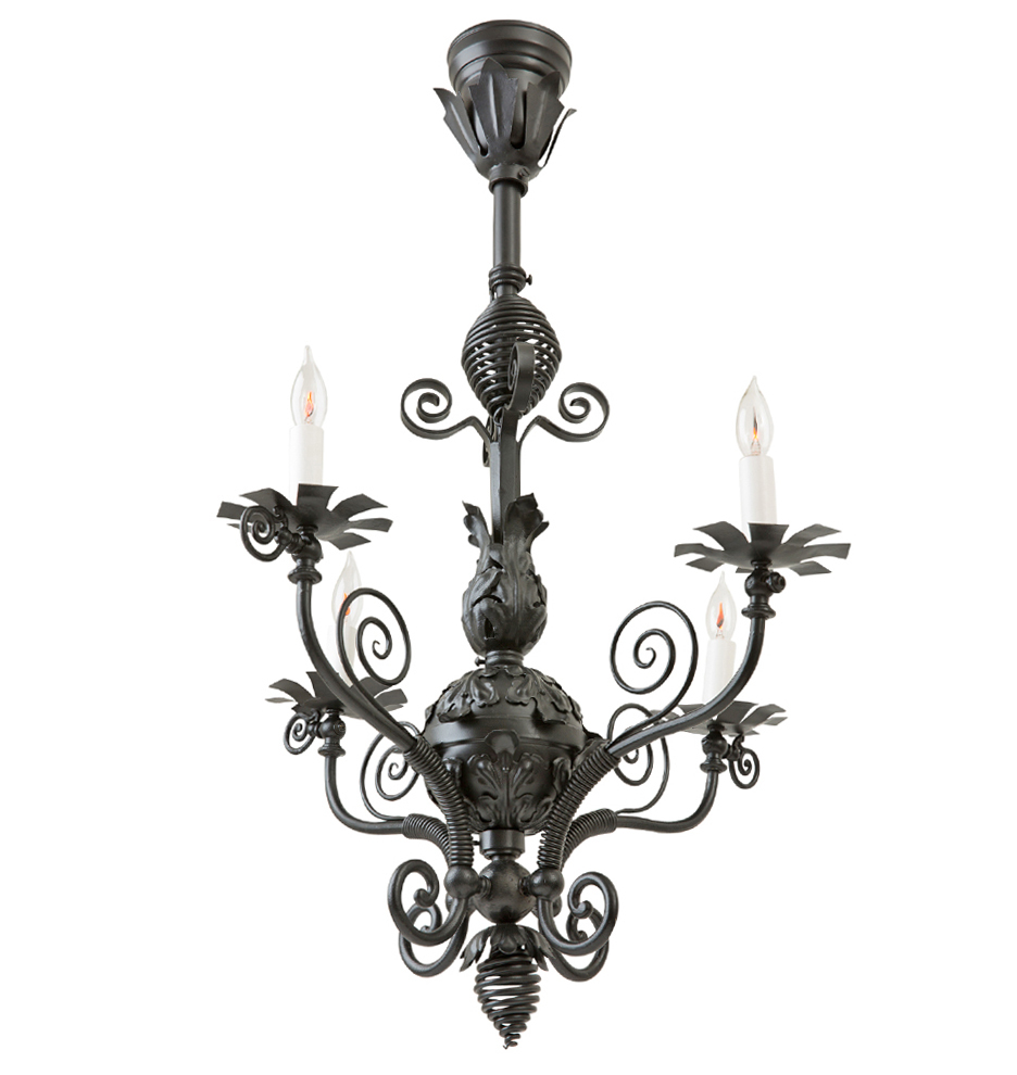 Wrought Iron Chandelier C01 Santa Barbara Spanish Style