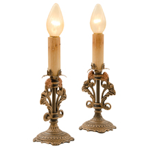Pair of Romance Revival Candelabra Boudoir Lights c1930