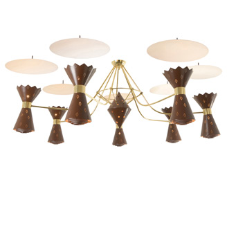 Stunningly Mid-Century Gypsy Lounge Chandelier C1963
