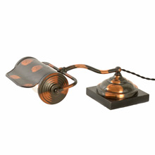 Japanned Copper Library Lamp by Faries C1920