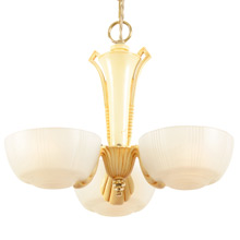 Streamline 3-light Slipper-Shade Chandelier C1935