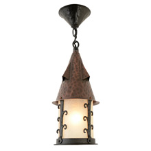 Wrought-Style Storybook Lantern Pendant by Lightolier C1932