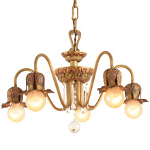 Dramatic Colonial Revival Chandelier By Moe Bridges C1928
