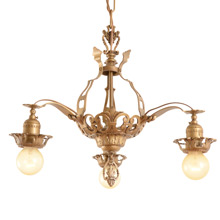 Striking Romance Revival 3-Light Chandelier C1925