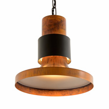 Large Black and Copper-Toned Lightolier Commercial Pendant c1960's