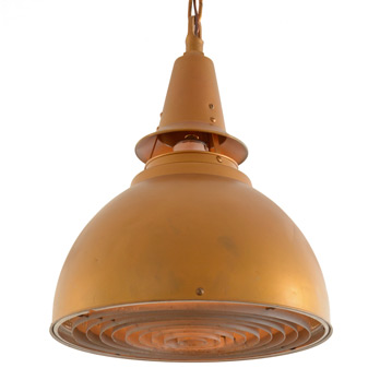 Large Mid-Century Commercial Dome Pendant c1950