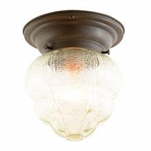 Simple Porch Light W/ Interesting Pressed Glass Shade C1940