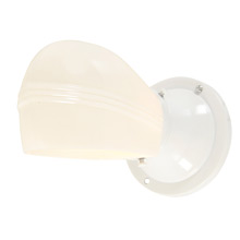 Streamline White Enamel Sconce w/Opal Shade c1935