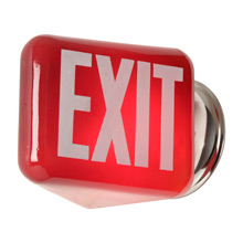 "Classic Red ""EXIT"" Shade Wall Fixture c1935"