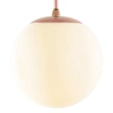 Copper-Toned Mid-Century Globe Pipe Pendant C1960