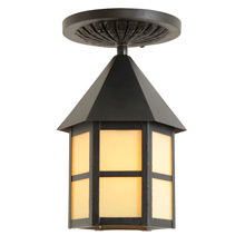 Classic Porch Lantern w/ Custard Glass c1920